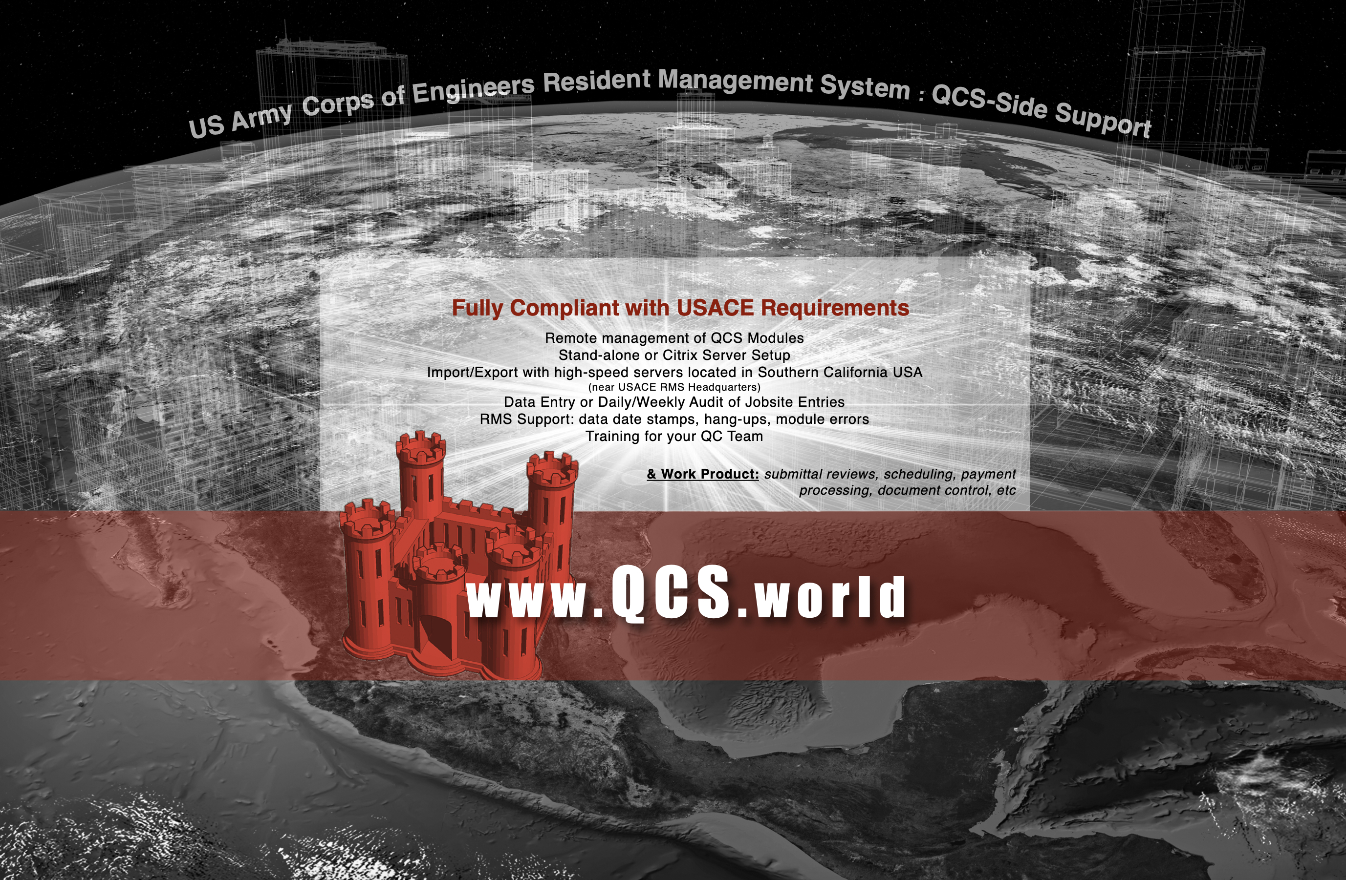 Supporting your team on implementation and execution of USACE RMS/QCS software requirements